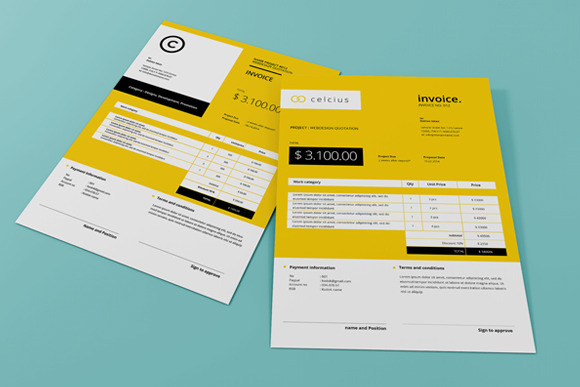 Simple Invoice By Celcius Design  Design Invoices