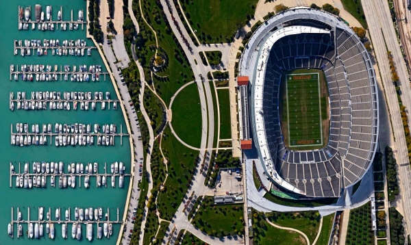 Soldier Field in Chicago, Illinois, USA