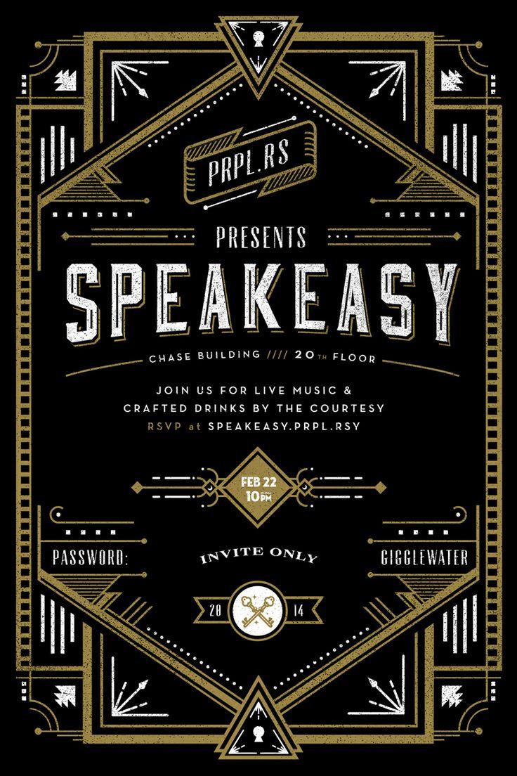 Speakeasy Invite by Frank Rodriguez