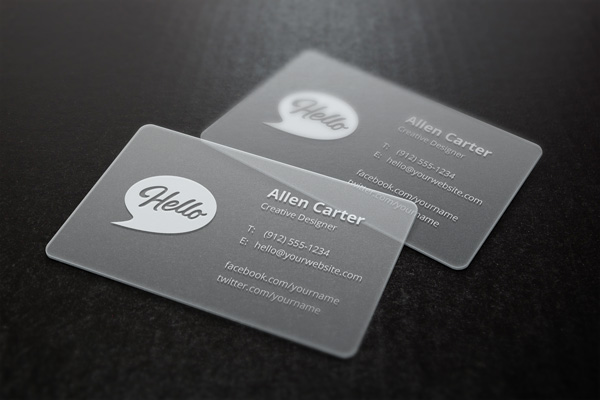 Translucent Business Card