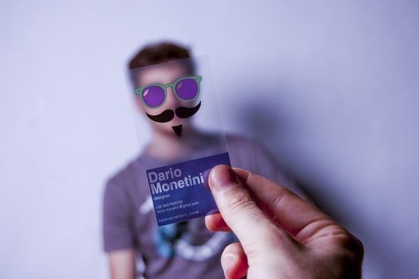 Transparent business card by Dario Monetini