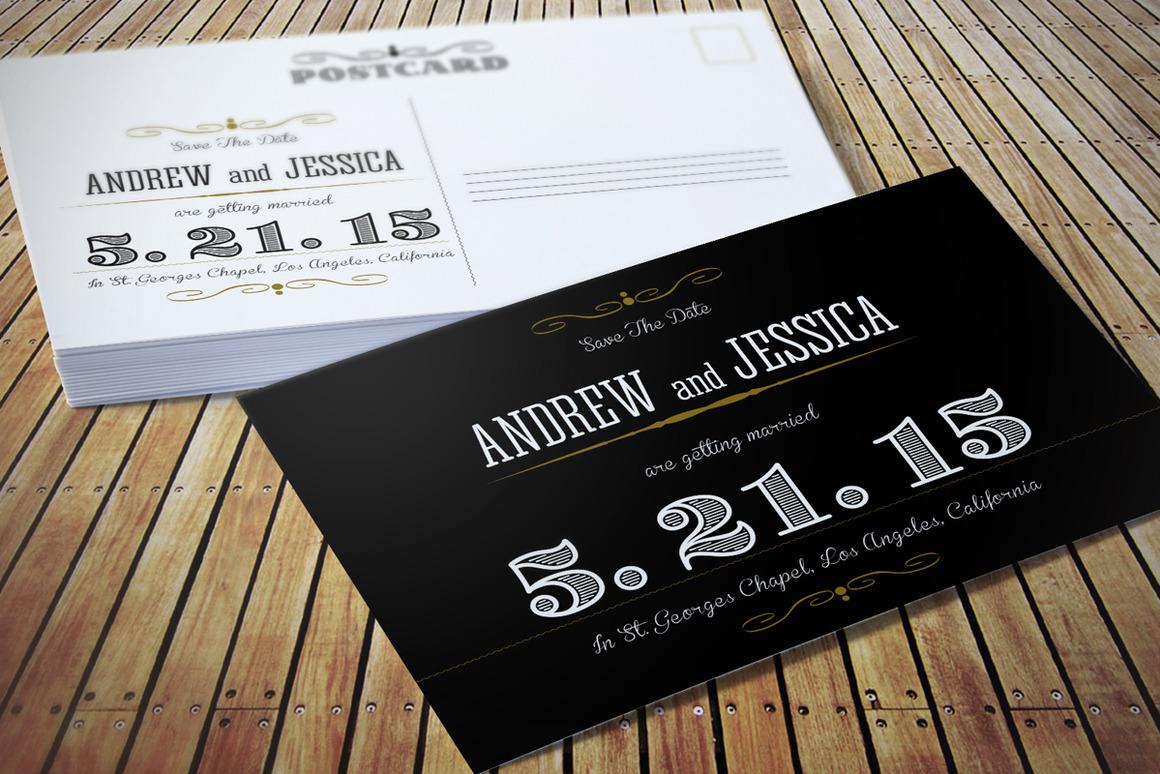 Wedding Invitation Postcard