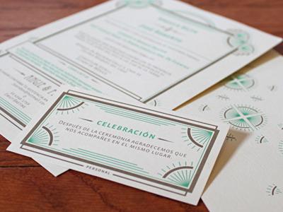 WEDDING INVITATION SET by Elisabeth Owens