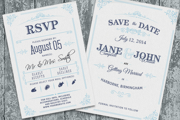 "What To Include In A Wedding Invitation Pack: 25 Stunning ""Save The Date"" Designs"