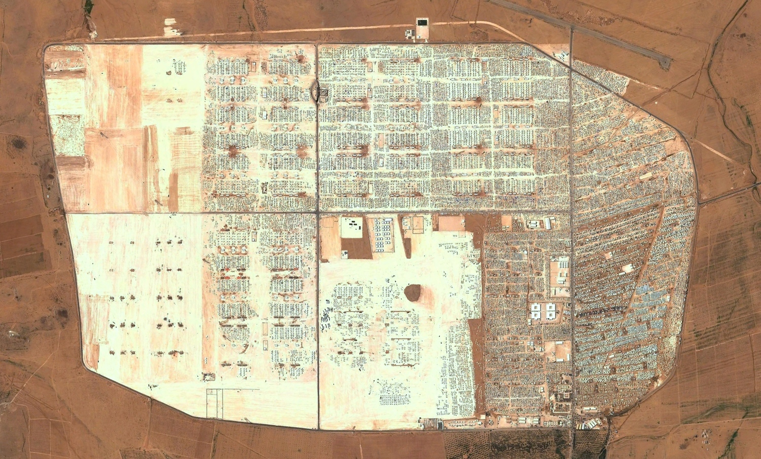 Zaatari Refugee Camp in Mafraq, Jordan