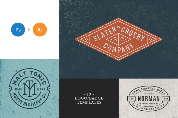 10 Logo_Badge Templates