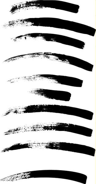 10 Paint Brush Strokes