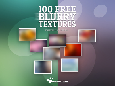 100 Free Blurry Textures by Sylvain Guizard