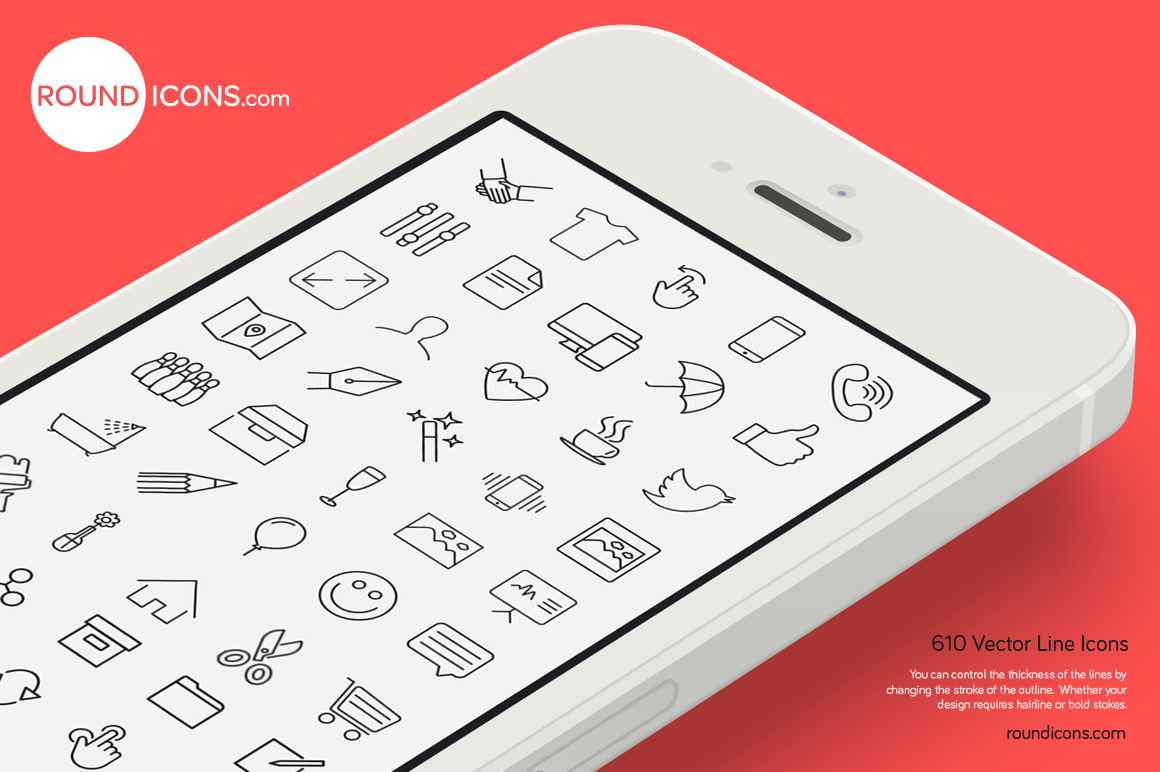 1000 Vector Line Icons Set