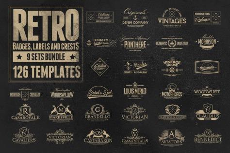 126 Retro Badges, Labels & Crests