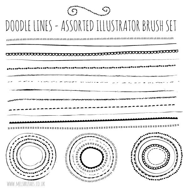 13 Natural Sketch Doodle Lines