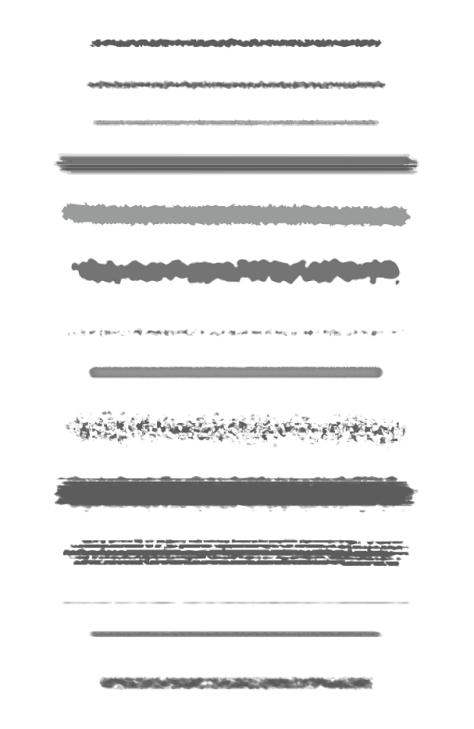14 Custom Drawing Brushes
