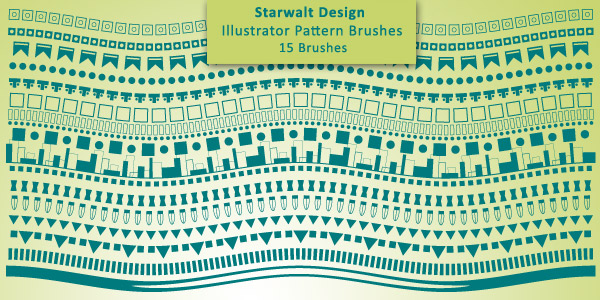 15 Pattern Brushes