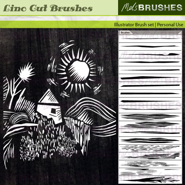 19 Lino Cut brushes