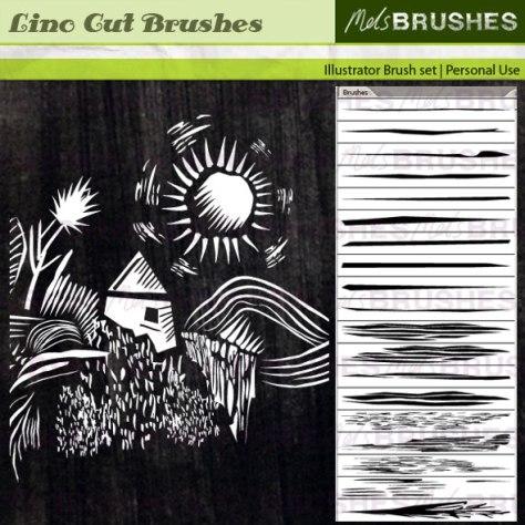 19 Lino Cut brushes