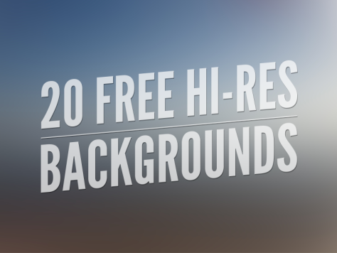 20 Free Hi-Res Backgrounds by Gavin Anthony