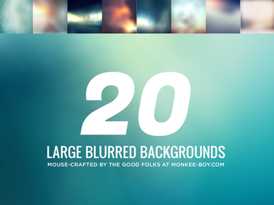 20 Free Large Blurred Backgroundsby Nikki Clark