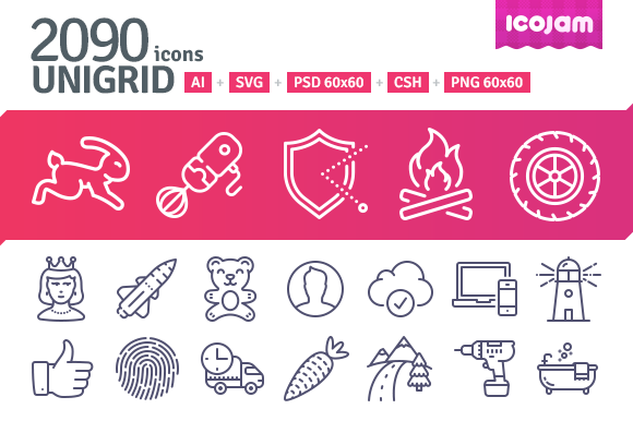 2090 icons in UniGrid set