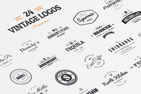 24 Vintage Logos & Badges