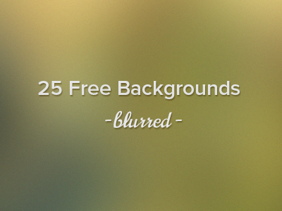 25 Free High Resolution Blurred Backgrounds by Designmodo