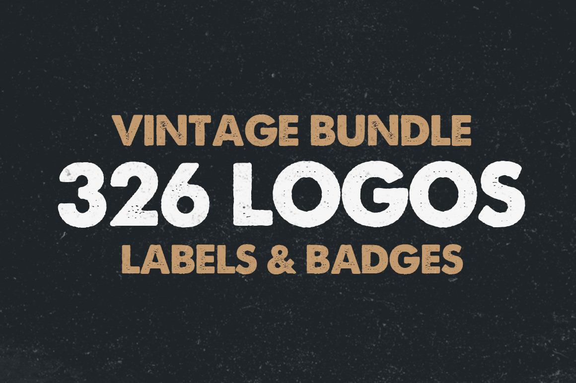 326 Vintage Logos Badges