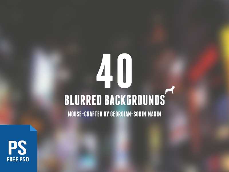 40 Blurred Backgrounds by Georgian-Sorin Maxim