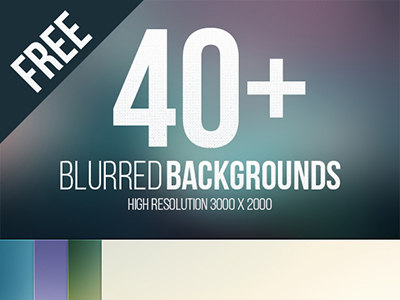 40 High Resolution Blurred Backgrounds by Wassim