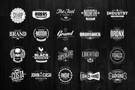 42 Badges & Logos Collection