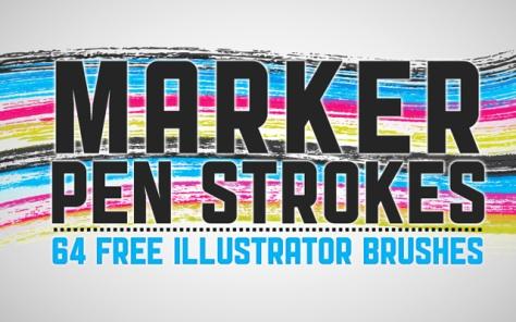 64 Marker Pen Strokes