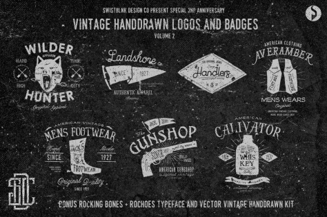 7 Vintage Handdrawn Logos