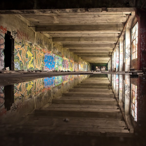 Breathtaking reflection of urban decay
