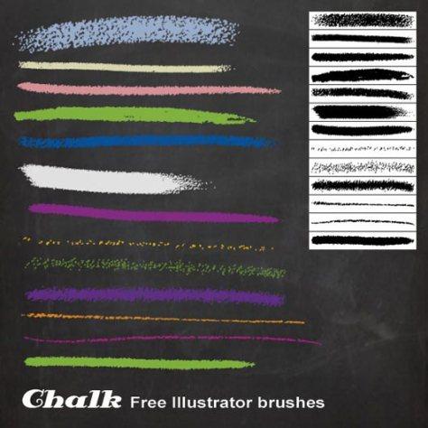 Chalk Illustrator brushes