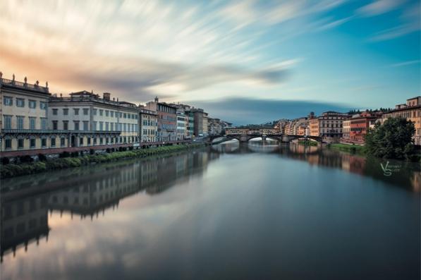 Crossing the Arno by Michael Woloszynowicz