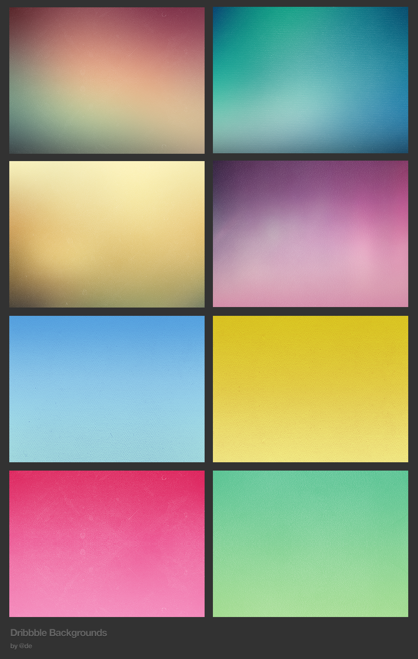 Dribbble Backgrounds by Dan Edwards