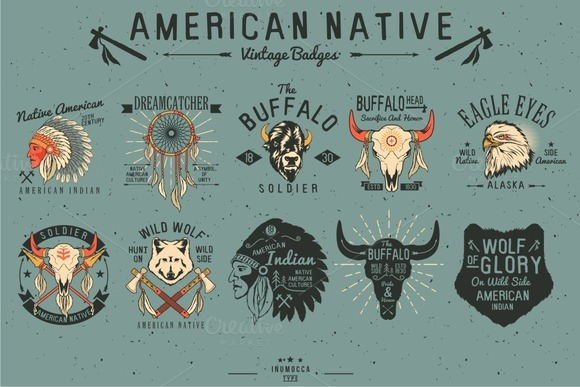 Native American Vintage Badges