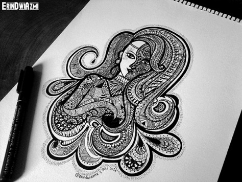 Queen Of Zentangle by Erin Dwi Azmi