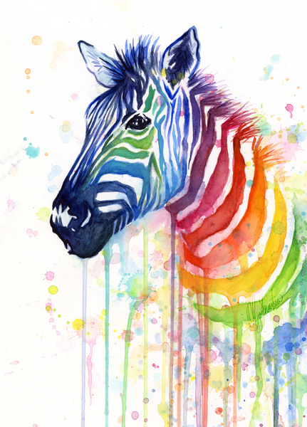 Rainbow Zebra by Olechka