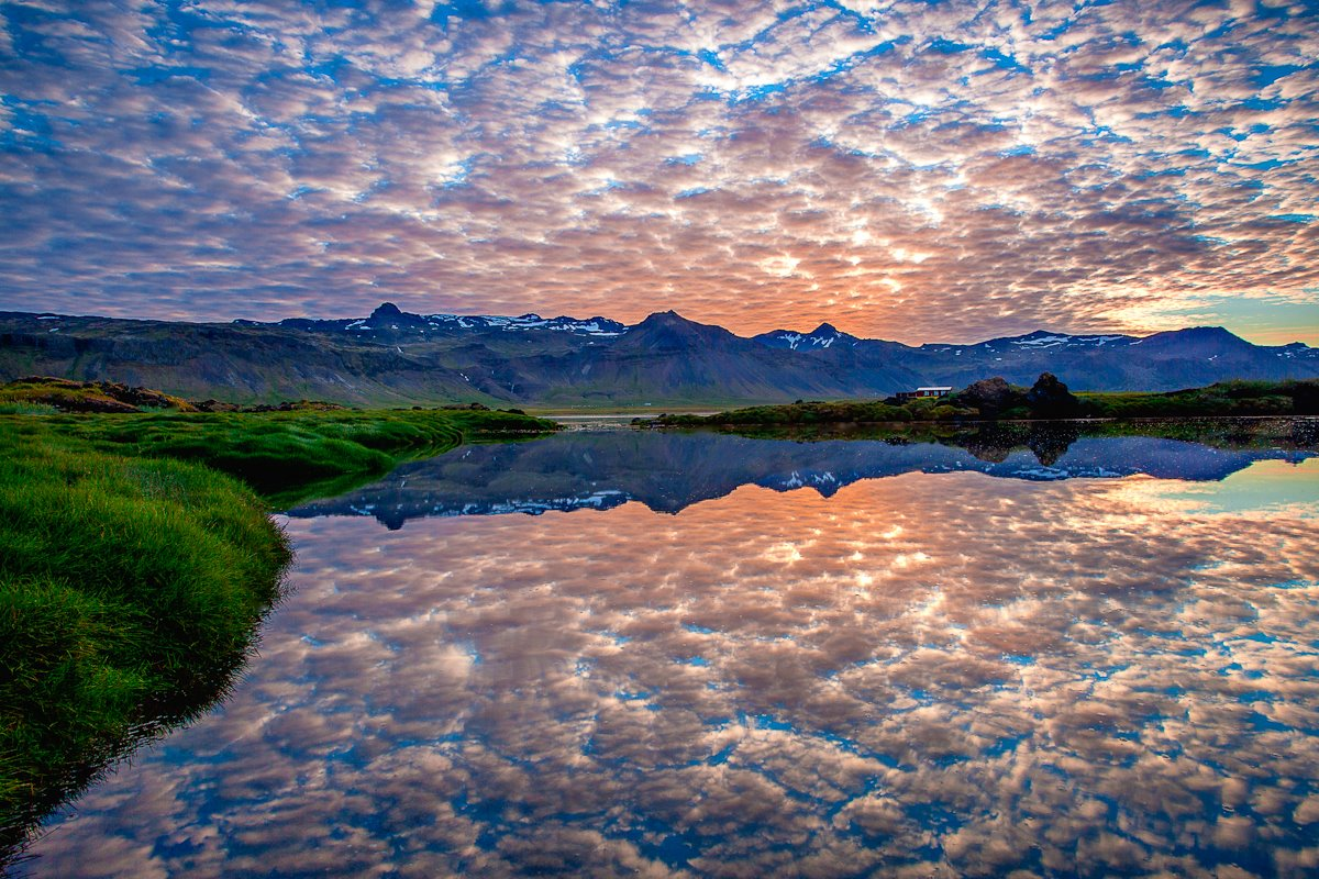 Surreal Reflection in Iceland