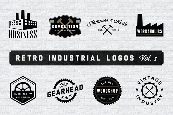Vintage Logo & Badge Mega Bundle