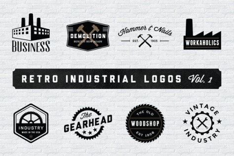 Vintage Logo & Badge Mega Bundle