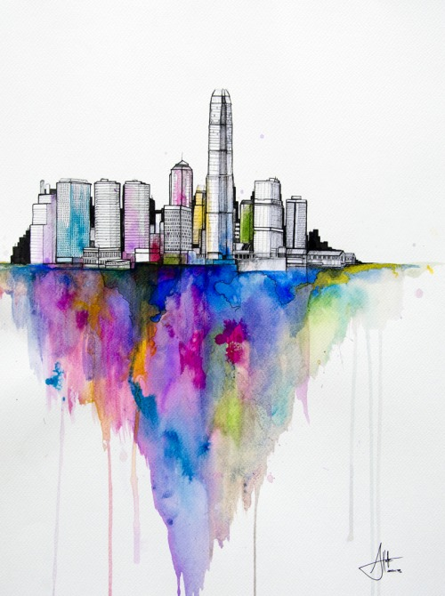 Watercolors by Marc Allante