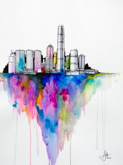 Watercolors by Marc Allante