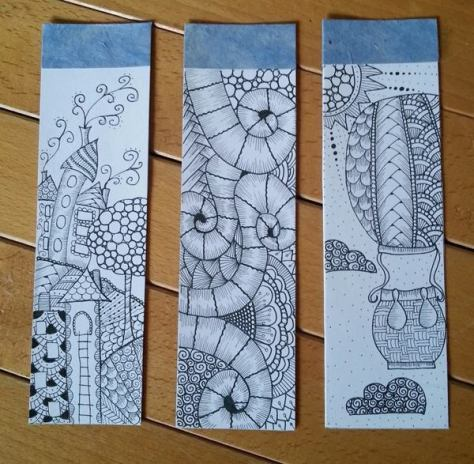Zentangle Bookmarks by Selene Toscano