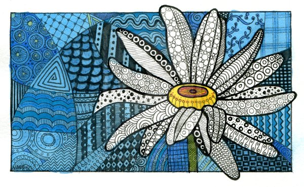 Zentangle Flower by Joelyn