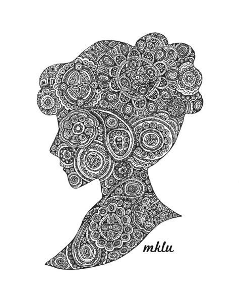 Zentangle Girl by Mary Kate Lucas