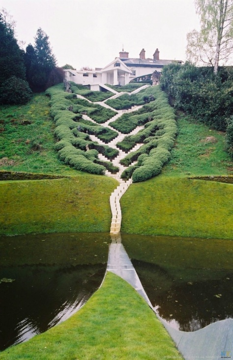 At the Garden of Cosmic Speculation, Dumfries, Scotland.