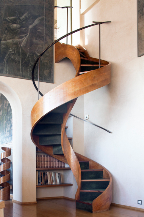 Beautiful Staircase Interior Internal Stairs Sint Pieters Leeuw Tower Winding Staircase Inside A