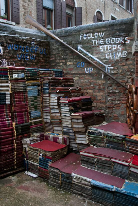 Books as actual stairs