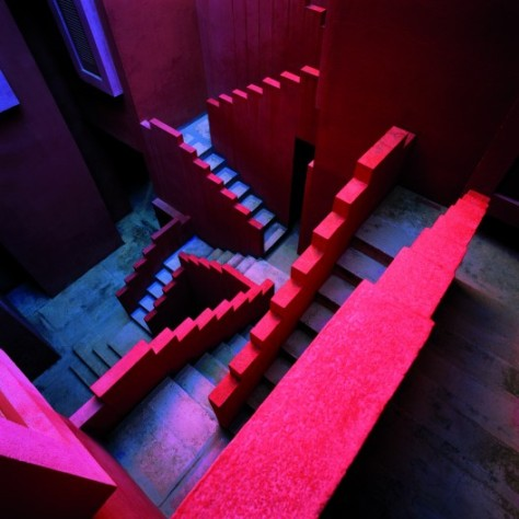 Crazy Stairs at 'The Red Wall'