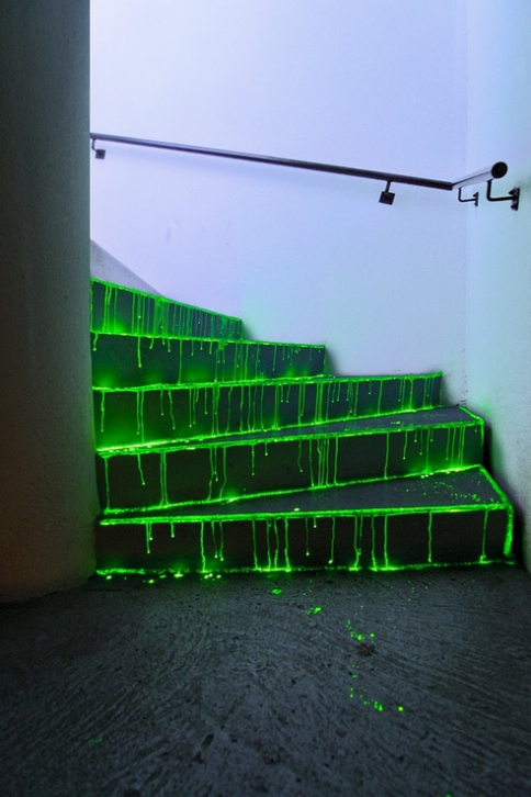 Glow in the Dark Painted Stairs